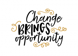 Free SVG cut file - Change brings opportunity