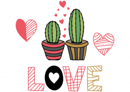 Free SVG cut file - Cactus Love