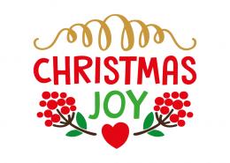 Free SVG cut file - Christmas Joy