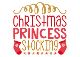 Free SVG cut file - Christmas Princess Stocking