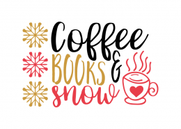 Free SVG cut file - Coffee Books and SNow