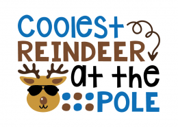 Free SVG cut file - Coolest reindeer at the pole