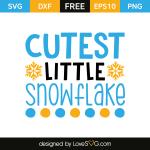 Free SVG cut file - Cuttest Little Snowflake
