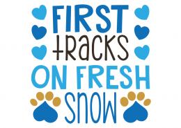Free SVG cut file - First tracks on Fresh Snow