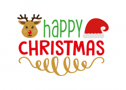 Free SVG cut file - Happy Christmas