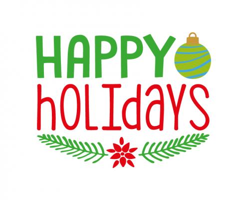 Free SVG cut file - Happy Holidays