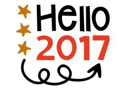 Free SVG cut file - Hello 2017