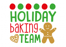 Free SVG cut file - Holiday backing team
