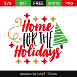 Free SVG cut file - Home for the Holidays