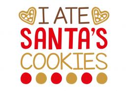Free SVG cut file - I ate Santa's cookies