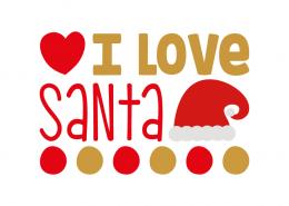 Free SVG cut file - I love Santa