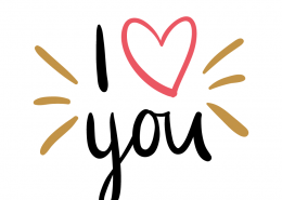 Free SVG cut file - I love you