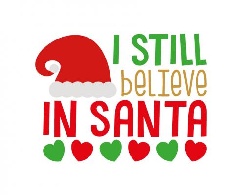 Free SVG cut file - I still believe in Santa
