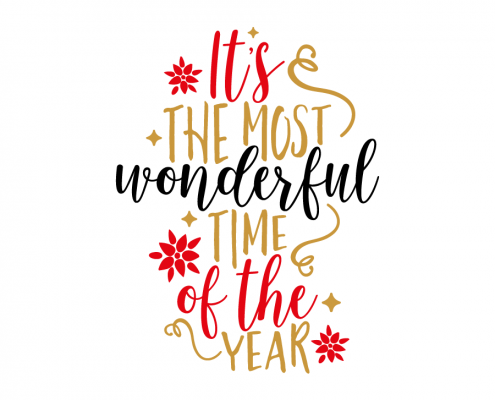 Free SVG cut file - It's the most wonderful time of the Year