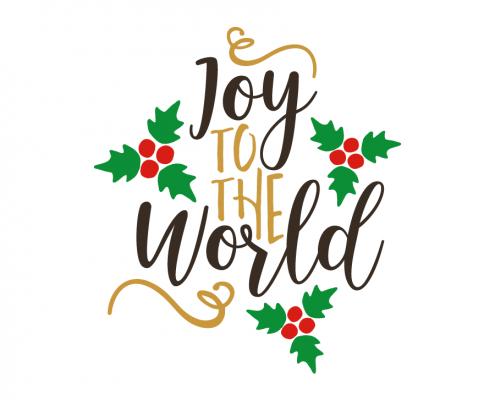 Free SVG cut file - Joy to the World