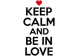 Free SVG cut file - Keep Calm and be in love