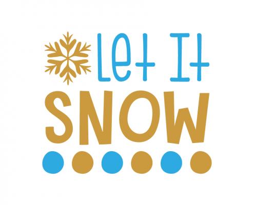 Free SVG cut file - Let it snow