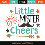 Free SVG cut file - Little Mister Cheers