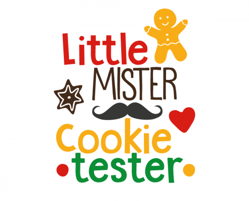 Free SVG cut file - Little Mister Cookie tester