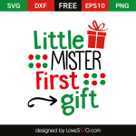 Free SVG cut file - Little Mister First GiftFree SVG cut file - Little Mister First Gift