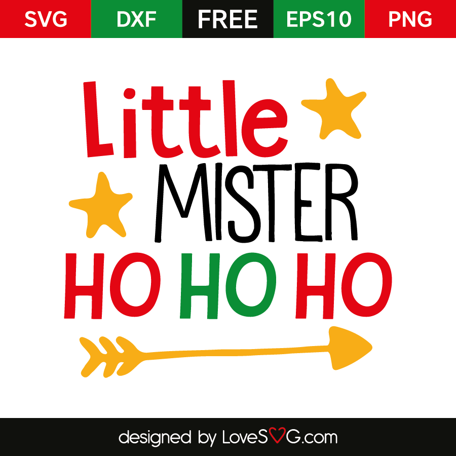 Free SVG cut file - Little Mister First Gift