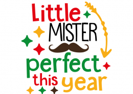 Free SVG cut file - Little Mister Perfect this year