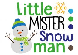 Free SVG cut file - Little Mister Snowman