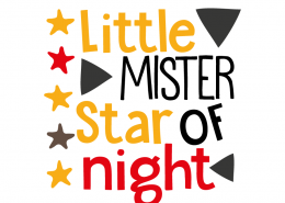 Free SVG cut file - Little Mister Star of Night