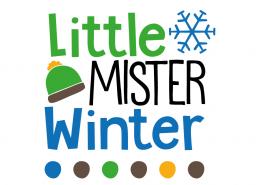 Free SVG cut file - Little Mister Winter