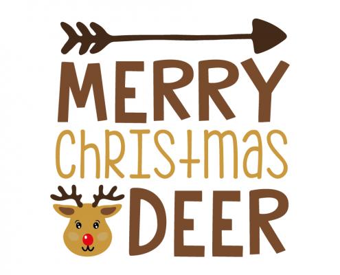 Free SVG cut file - Merry Christmas Deer
