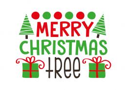 Free SVG cut file - Merry Christmas Tree