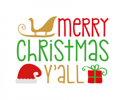 Free SVG cut file - Merry Christmas Y'all