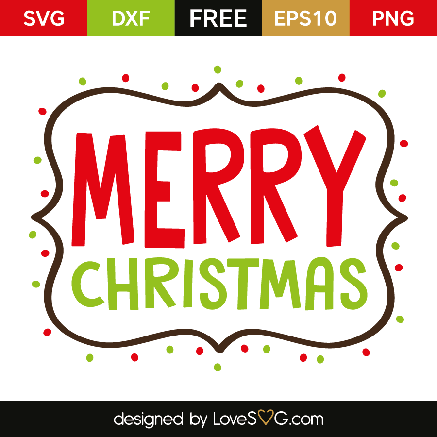 Download Merry Christmas | Lovesvg.com