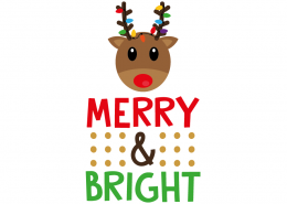 Free SVG cut file - Merry and Bright
