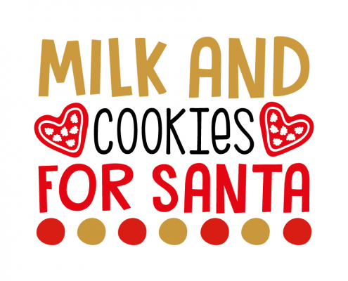 Free SVG cut file - Milk and Cookie for Santa