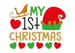 Free SVG cut file - My 1st Christmas