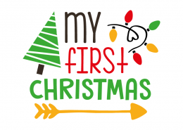 Free SVG cut file - My first Christmas