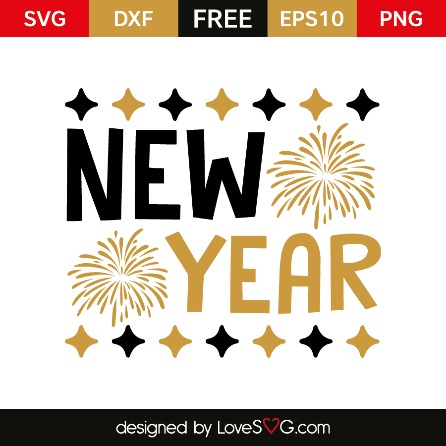 free svg cut file new year