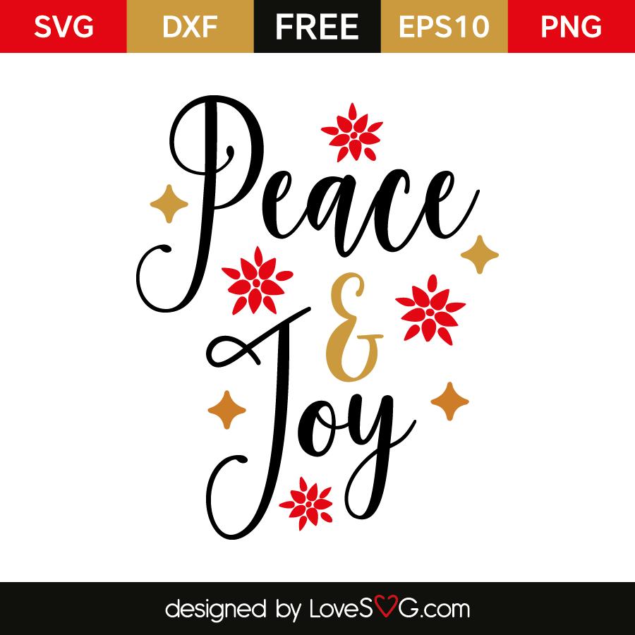 Download Peace & Joy | Lovesvg.com