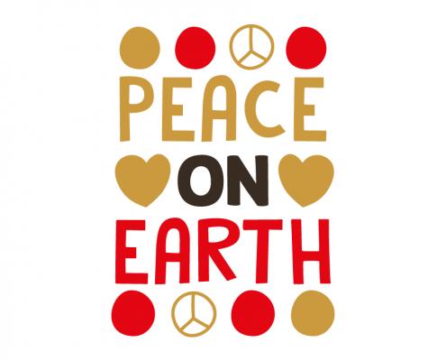 Free SVG cut file - Peace on Earth