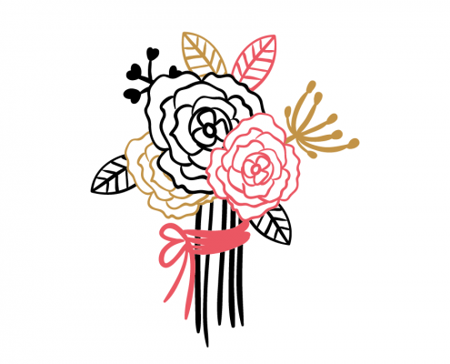 Free SVG cut file - Romantic Roses Bouquet