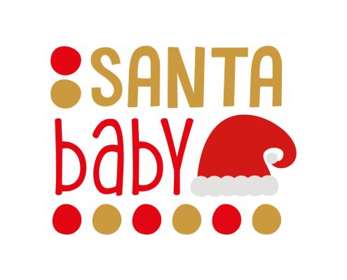 Free SVG cut file - Santa baby