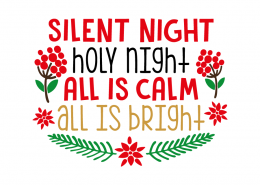 Free SVG cut file - Silent Night Holy Night