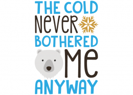 Free SVG cut file - The cold nerve bothered me Anyway