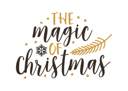 Free SVG cut file - The magic of Christmas