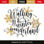 Free SVG cut file - Walking in a Winter Wonderland