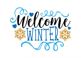 Free SVG cut file - Welcome Winter