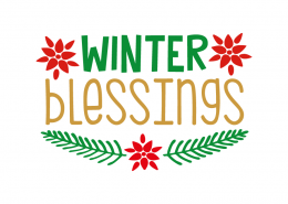 Free SVG cut file - Winter Blessings