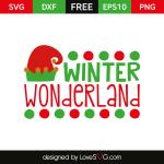 Free SVG cut file - Winter Wonderland