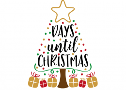 Free SVG cut file - X days until Christmas